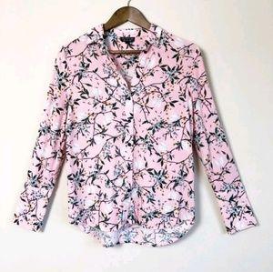 3/$30 Topshop Pink Floral Button Down Shirt 150